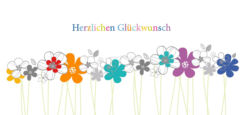 Glückwunschkarte Blumen Mit Stiel